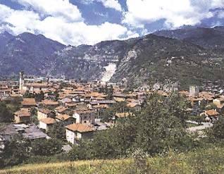 Vista panoramica di Cividate Camuno